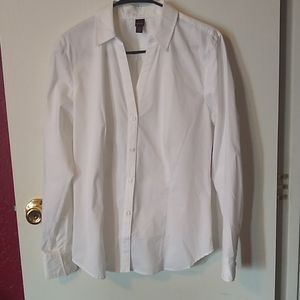 Bongo White Collared Button Down Shirt